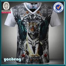 nanchang yacheng wholesale tee shirt printing company logo t shirt men casual shirt fashion animal printed 3d t-shirt