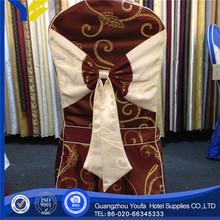plain high quality 100% polyester organza chair sashes banquet chair cover decoration