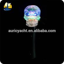 halloween skull shaped led spinner wand
