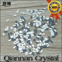 Wholesale Shoes/garment accessories 2*4mm rectangle flatback crystal rhinestone