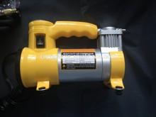 Quick Fill 12v Metal Car Air Compressor Inflator Coiled Hose Light Tire Inflator Tool Electric Portable Pump
