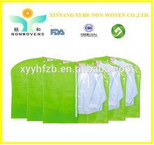 Clear plastic zipper garment bag