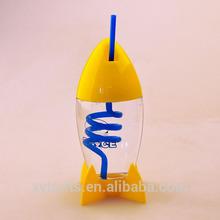 Walmart,SEDEX,300ml bpa free leakproof lower price wholesale Rocket Cup With Straw