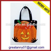 2015 Best Selling custom made designer handbags with halloween pumpkin inspired bags made china