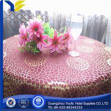 Damask Fabric manufacter Dobby jeweled table cloth