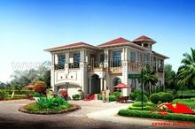 Luxury Steel Villa, 338.8sq.m-3646.81sq.ft big villa, luxury villa design