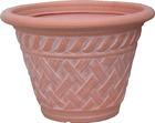 artificial morden italian plastic rattan wicker flower pots liners