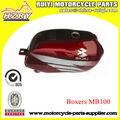El color rojo de piezas de la motocicleta boxer/mb100 tanque de la motocicleta