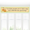 Banner - Twin Little Pumpkins Caucasian - Personalized Baby Shower Banner