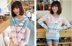 Winter Lady Casual Korean Design Thick Fleece Cartoon Sheep Cotton Hoodies JH-HD-033