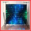 HOT WLK-1P18 Black fireproof Velvet cloth RGB 3 in 1 led decorative display vision led curtain