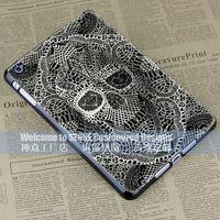 white black skull heads colourful hard case cover for apple ipad mini