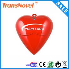 red heart usb flash memory , plastic heart shape pen drive , promoitional cheap heart usb 2gb