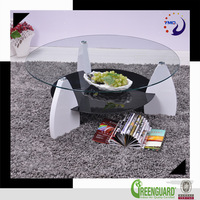 luxury modern living room furniture two layer glass round center table