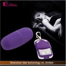 2014 Powerful g-spot massage remote control egg vibrating male sexual stimulant