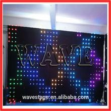 HOT WLK-1P9 Black fireproof Velvet cloth RGB 3 in 1 leds vision pixel flex led curtain