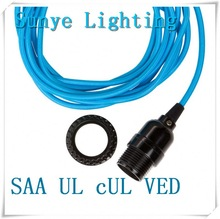 SAA UL VED cUL plug wire textile cable diffenent color cable earth and neutral wire