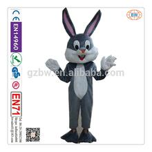 2014 good design rabbit cartoon fur costume mascot for sale