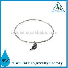 Antique Silver Wing Pendant Bracelet