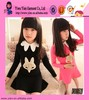 Fashion Single Color Long Sleeve Dress Custom Doll Collar Short Princess Latest Dress Designs For Kids