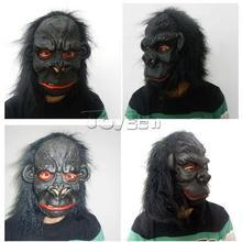 new design black horror halloween mask with long hair