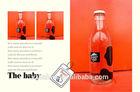 Wholesale decal glass milk & juice bottles