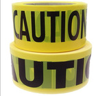"3""*1000' Yellow Non-adhesive PE traffic tape -""fire line do not cross"""