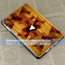 wood grain triangle design for ipad mini case