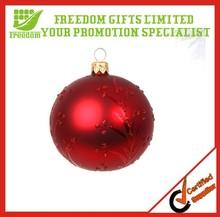 2014 Hot Selling Environmental 6cm Plastic Christmas Ball