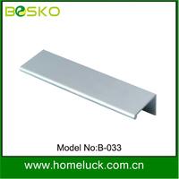 Profile chrome or matt oxidation aluminium furniture handle & knob