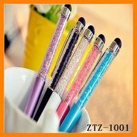 Free Shipping Cheap Promotional Metal Crystal Touch Screen Ballpoint Pen ZTT-1001