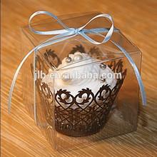 Clear plastic cake box, custom printing cupcake boxes