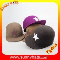 Wool felt baseball cap