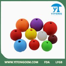 colourful single food grade sphere silicone ice mold