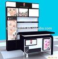 Cosméticos exibição prateleira / loja de cosméticos mobiliário para exposição do produto prateleira