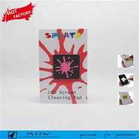 Microfiber+PU adhesive microfiber mobile phone screen cleaner,mobile phone sticker,mobile phone screen cleaner sticker