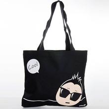 Modern New Design High Quality Black cotton canvas duffel bag