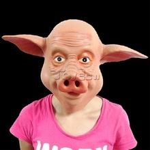 hot search carnival mask peppa+pig+costume+adulticostume rubber pig mask