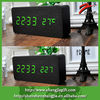 2014 hotsale decorative led wooden alarm clock