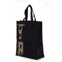 Modern New Design High Quality Black cotton cinch bag