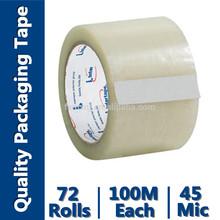adhesive transparent tape bopp film for carton box