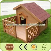 Dog kennel unique wood plastic composite wpc pet houses
