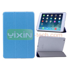 New design wallet style magnetic flip stand leather cover case for iPad Mini 2