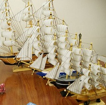 wooden Sailing decoration for sale 2015 new handmade decorative model boat