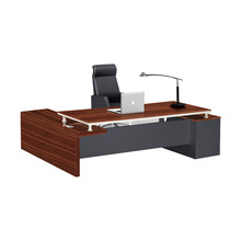 Modern High End L Shaped Wooden Office Executive Desk