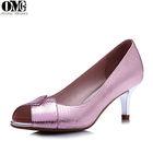 Peep Toe Bow Bridal Wedding Shoes,Evening Party High Heels,open toe electroplating heel dress shoe
