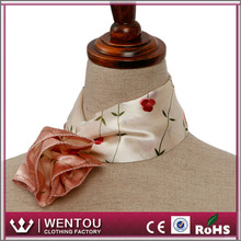 Wholesale high quality lady nice polyester air hostess scarf