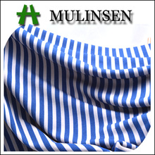 Mulinsen Textile Knitted Polyester Spandex DTY Navy Blue And White Stripe Fabric