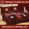 King size furniture bedroom set with curtains patchwork velvet quilt comforter luxury set 3d embroidery duvet bedding set