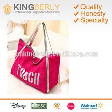 2014 fashion design wholesale plain ladies custom shopping printed canvas tote bag